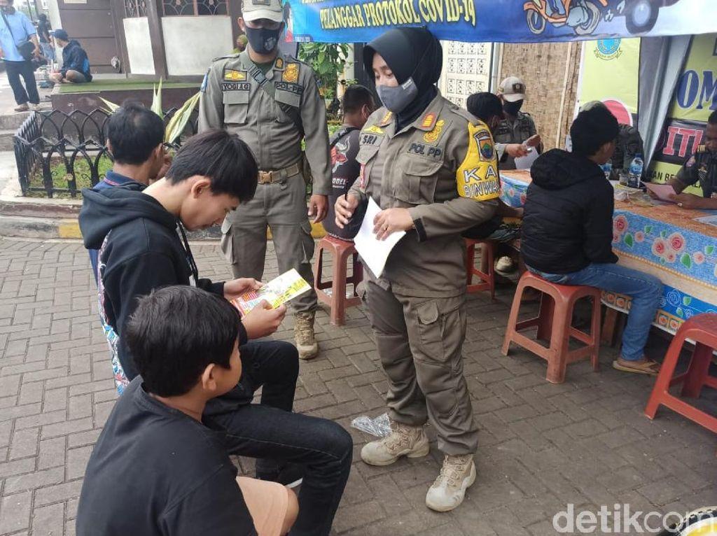 Libur Panjang Imlek, 103 Pelanggar Prokes di Cianjur Didenda