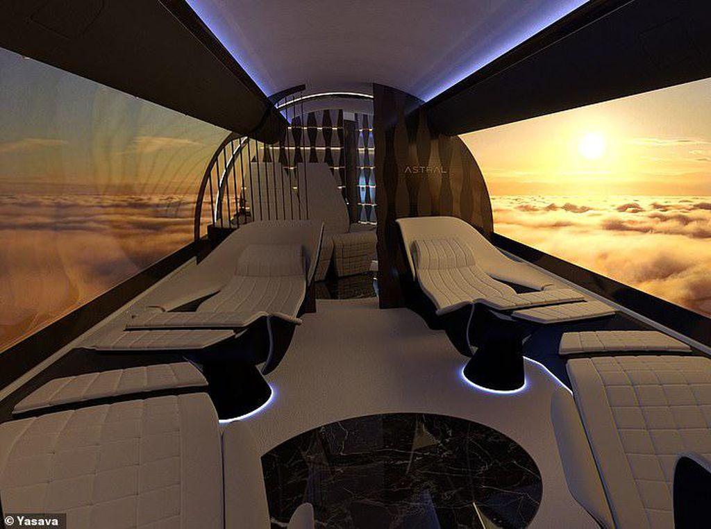 Foto: Kabin Pesawat Bak Bioskop di Masa Depan