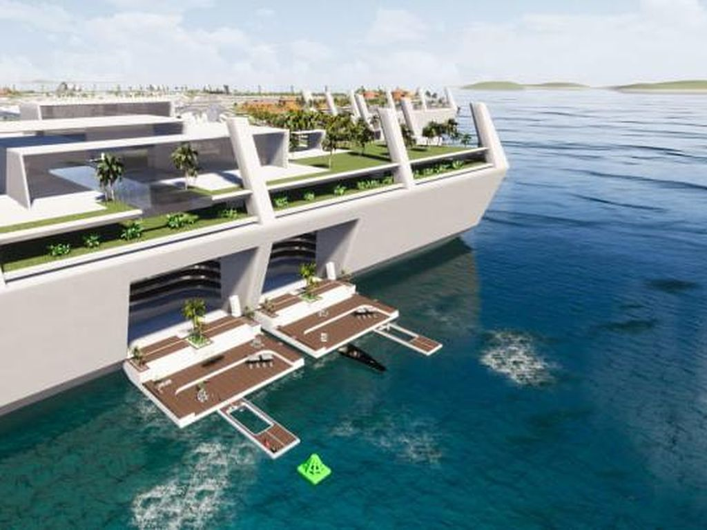 Pulau Mewah Buatan dengan Rumah Seharga Rp 13,9 Triliun, Sanggup Beli?