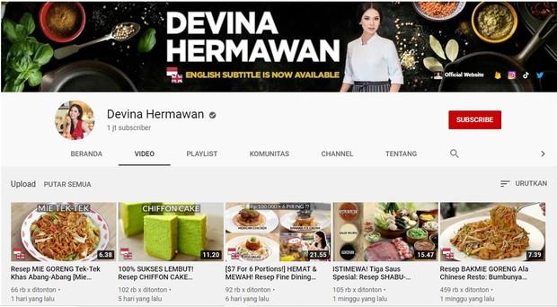 Kanal memasak bernama Devina Hermawan