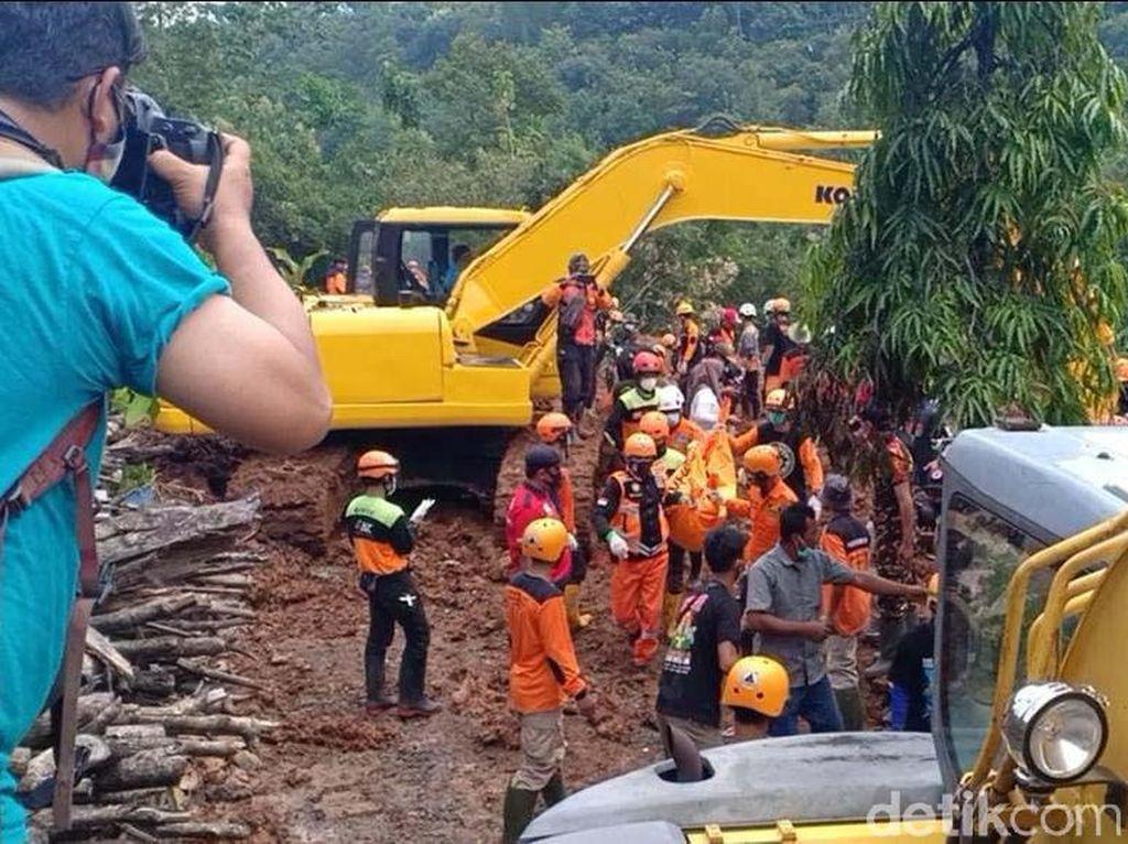 Pencarian Korban Longsor Nganjuk Hari Ini Difokuskan di Dua Titik