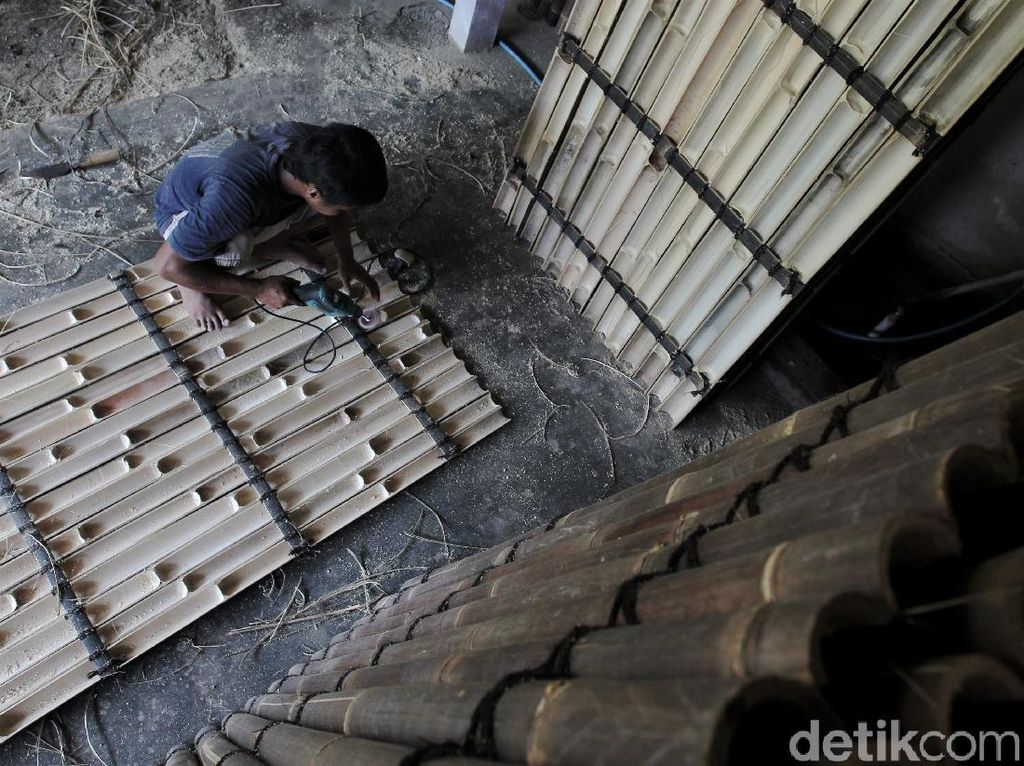 Kerajinan Panel Bambu di Bantul Ini Tembus Pasar Eropa