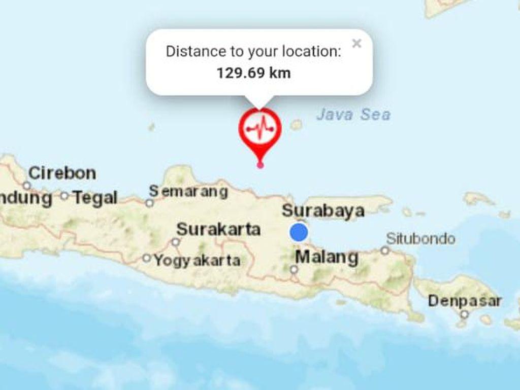 Gempa Tuban 5,2 M Tak Dirasakan di Daratan dan Belum Ada Laporan Kerusakan