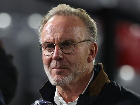 MUNICH, GERMANY - OCTOBER 21: Karl-Heinz Rummenigge, CEO of FC Bayern München looks on prior to the UEFA Champions League Group A stage match between FC Bayern Muenchen and Atletico Madrid at Allianz Arena on October 21, 2020 in Munich, Germany. (Photo by Alexander Hassenstein/Getty Images)