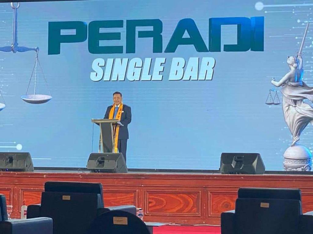PERADI Gaungkan Single Bar Sebagai Wadah Organisasi Advokat