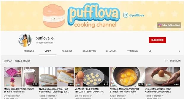 Kanal memasak bernama Pufflova