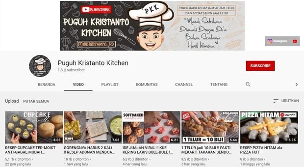 Kanal memasak bernama Puguh Kristanto Kitchen