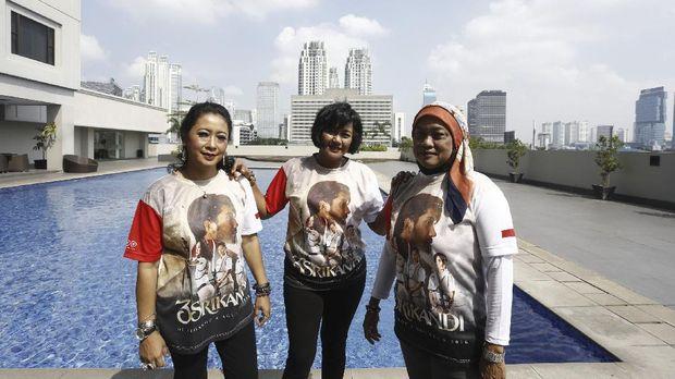 Nurfitriyana Saiman, Kusuma Wardhani, dan Lilies Handayani Trio Srikandi panahan. Detikcom/Rengga Sancaya