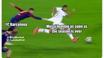 Meme Barca Digilas PSG, Mbappe Bikin KO Messi