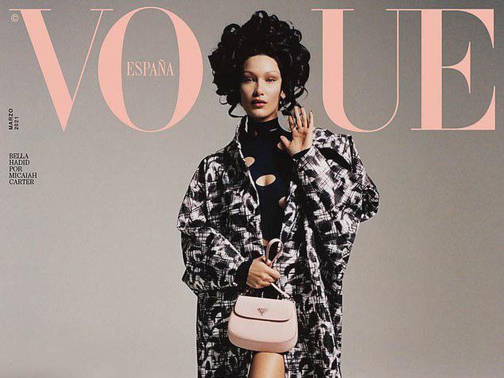 Bella Hadid Pakai Wig Besar di Pemotretan Vogue, Penampilannya Jadi Beda