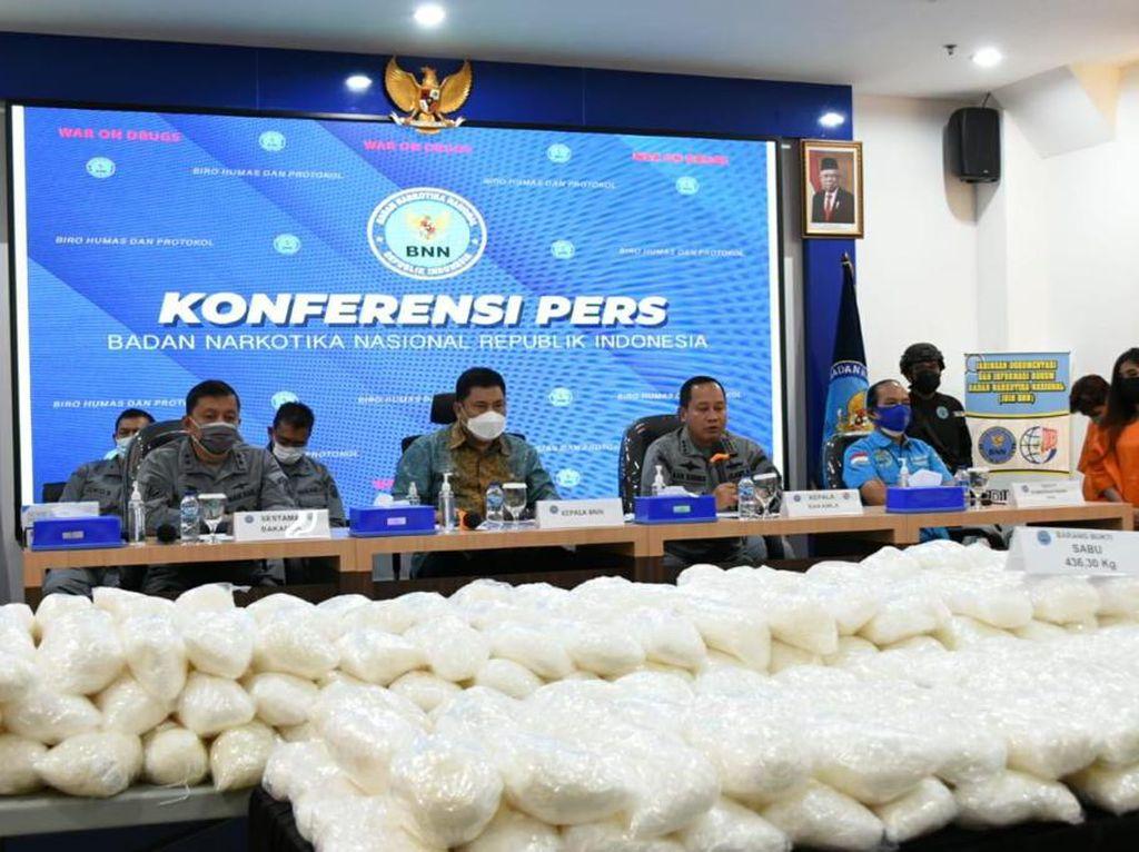 BNN-Bakamla Gagalkan Penyelundupan Sabu 436 Kg di Kepulauan Seribu