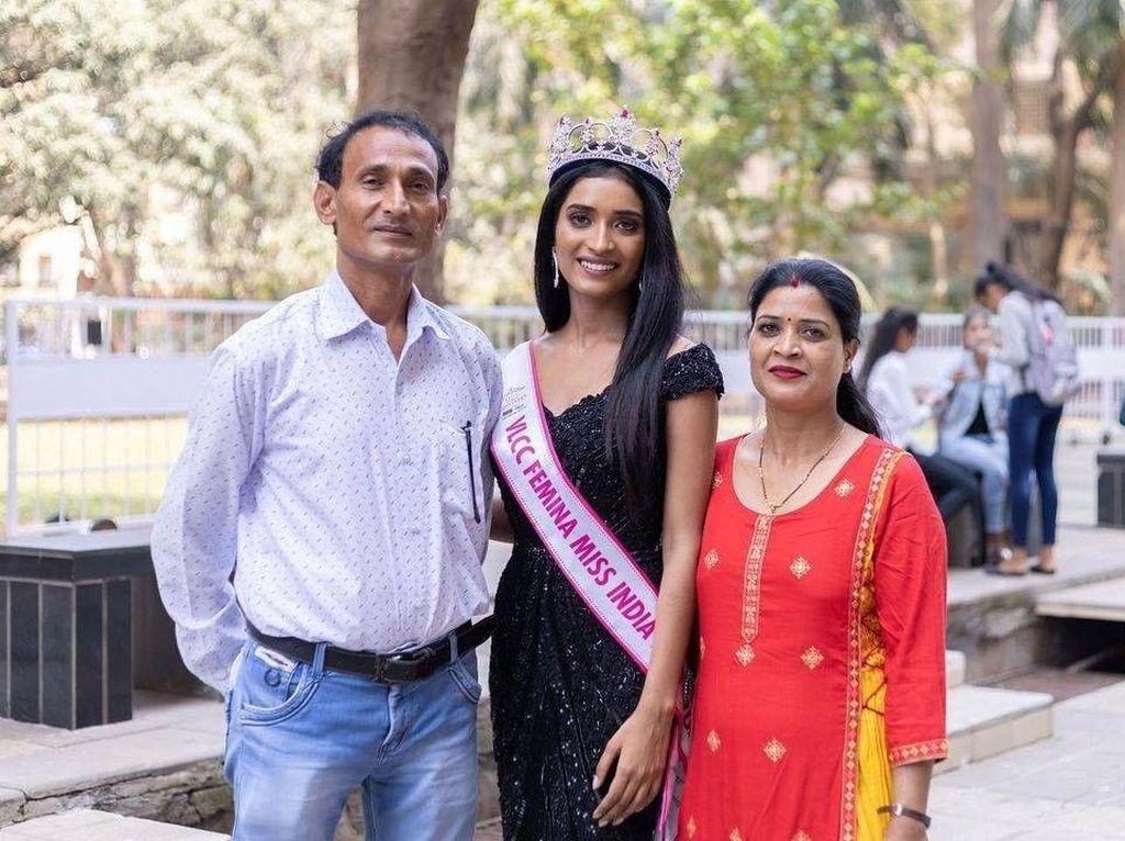 10 Potret Cantik Anak Sopir Bajaj yang Jadi Juara 3 Miss India 2020