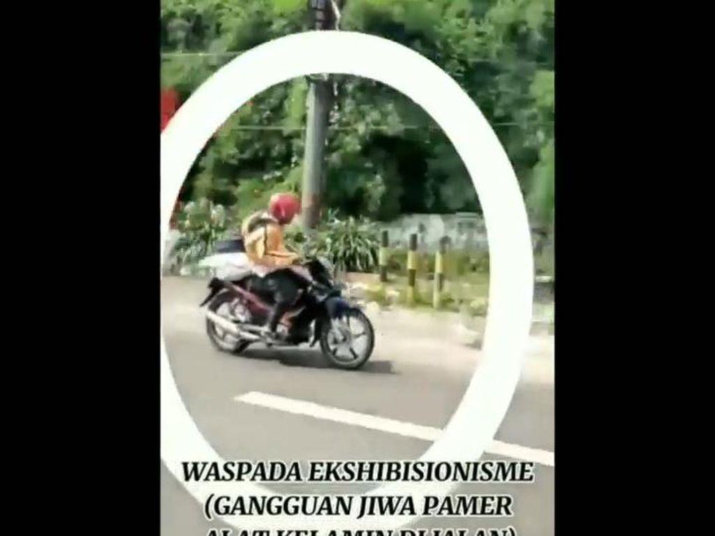 Video Pemotor Pria Pamer Alat Kelamin di Pasuruan Viral