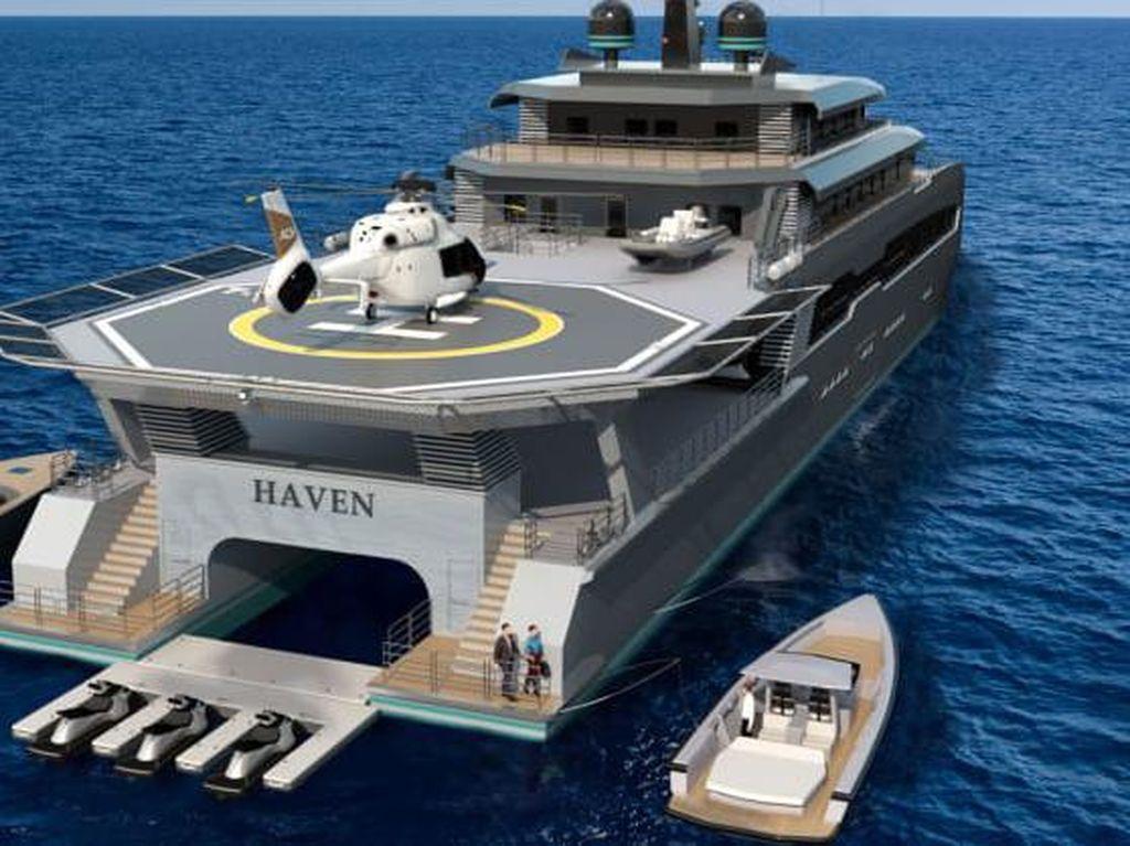 Ini Kapal Bayangan, Panjaga Superyacht Bebas dari COVID-19