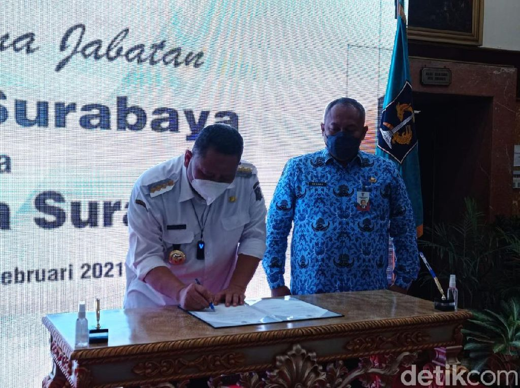 Wali Kota Whisnu Serah Terima Jabatan ke Plh Hendro Gunawan