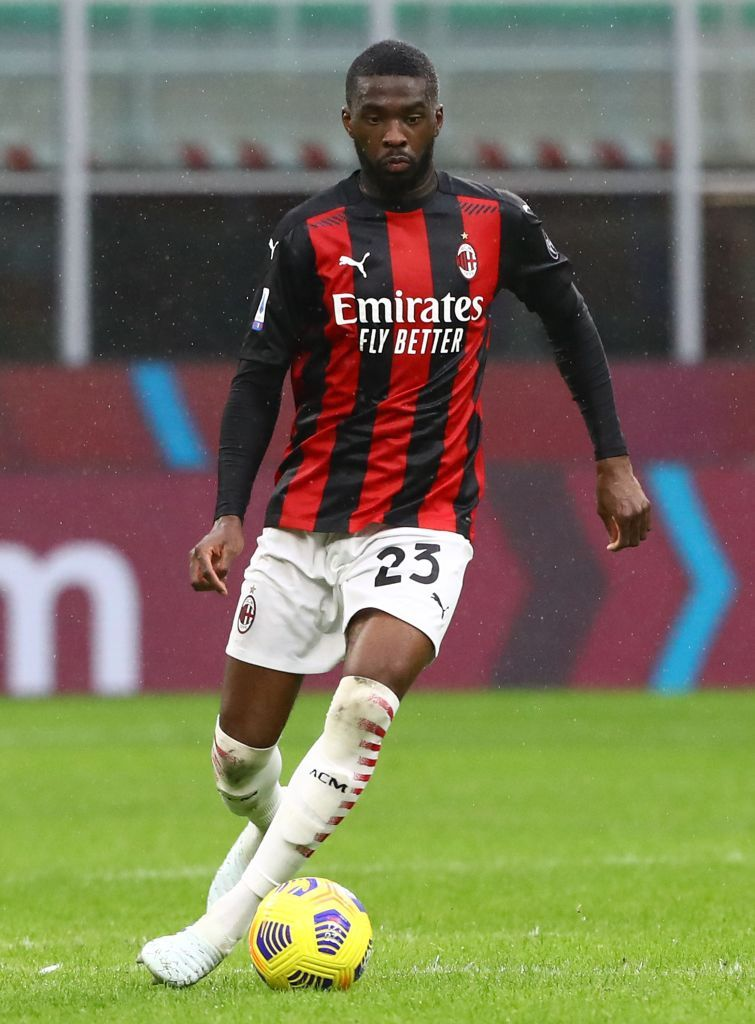 MILAN, ITALY - JANUARY 12:  Franck Kessie of AC Milan kick a penalty during the Coppa Italia match between AC Milan and Torino FC at Stadio Giuseppe Meazza on January 12, 2021 in Milan, Italy. Sporting stadiums around Italy remain under strict restrictions due to the Coronavirus Pandemic as Government social distancing laws prohibit fans inside venues resulting in games being played behind closed doors.  (Photo by Marco Luzzani/Getty Images)
