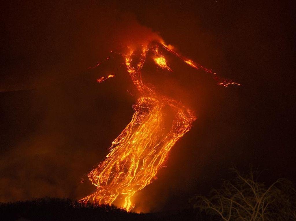 Kengerian Letusan Gunung Api Kilauea di Hawaii