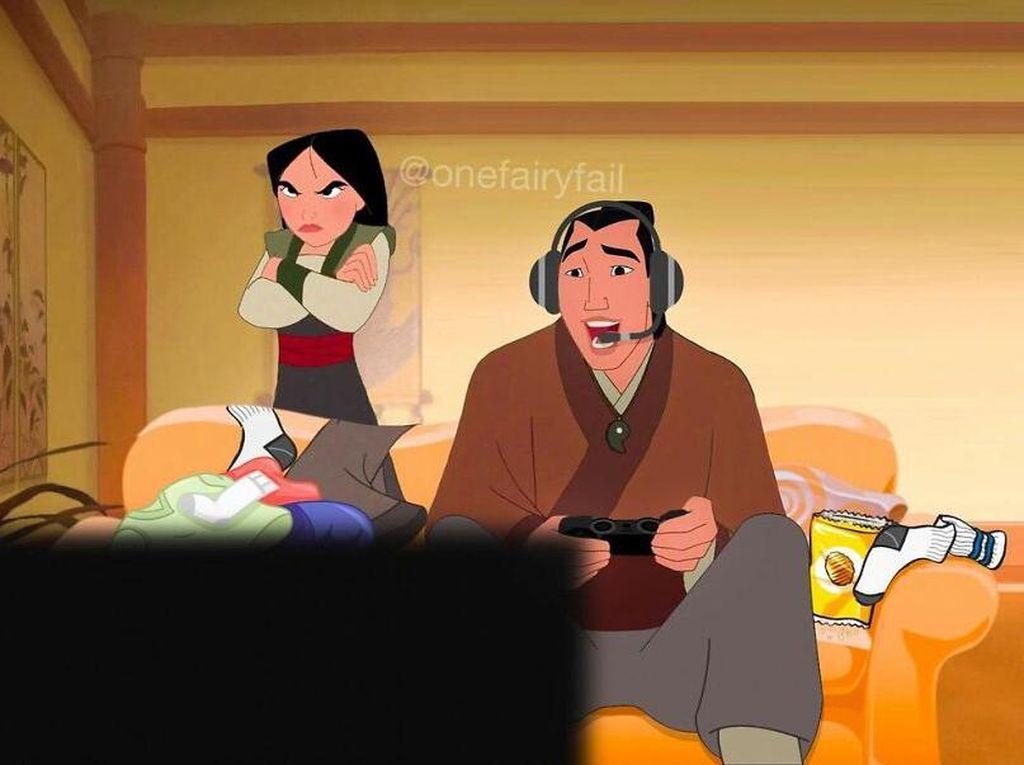 Ketika Karakter Disney Pakai Gadget Modern