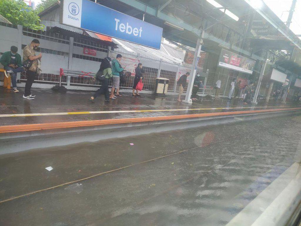Stasiun Tebet Tergenang, Perjalanan KRL Sampai Stasiun Pasar Minggu