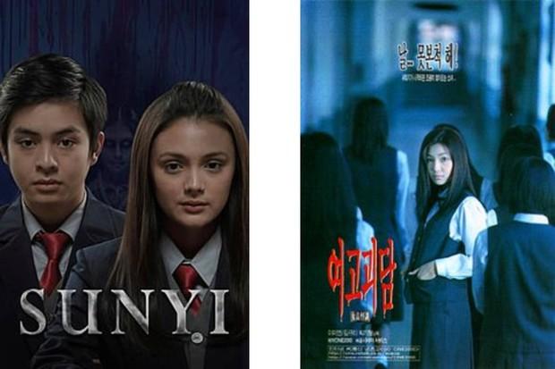 Sunyi (kiri), Whispering Corridors (kanan) official poster / foto: wikipedia