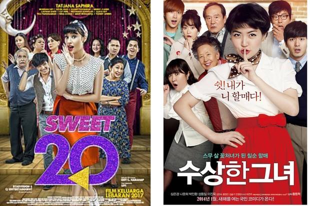Sweet 20 (kiri), Miss Granny (kanan) official poster / foto: wikipedia