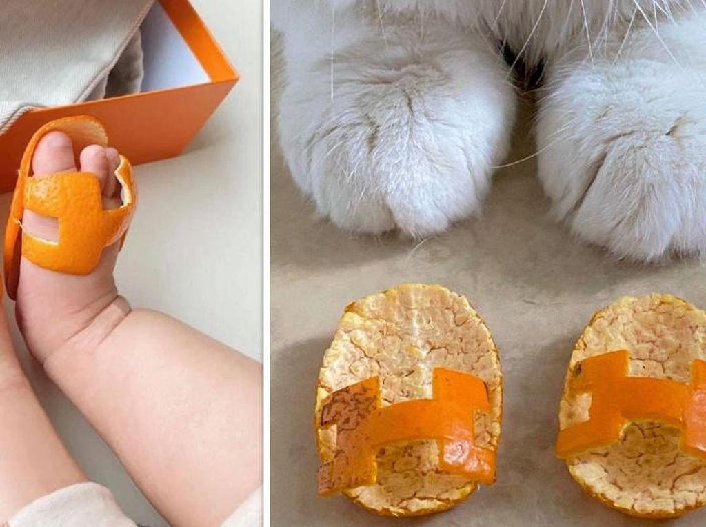 Tren Replika Sandal Hermes dari Kulit Jeruk Ini Bikin Gemas