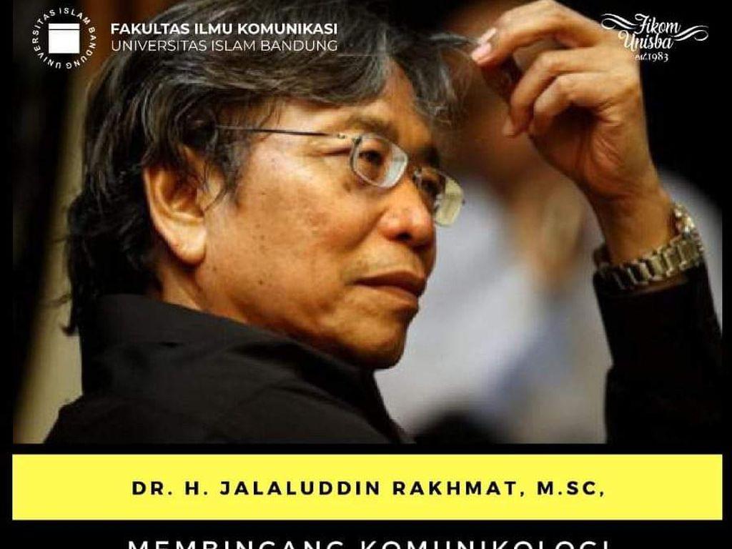 Unisba Batalkan Webinar Bahas Ilmu Komunikasi Jalaluddin Rakhmat