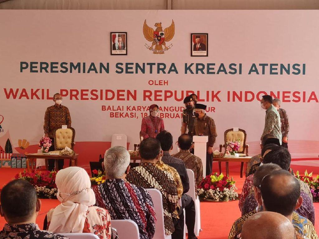 Wapres Maruf Resmikan Sentra Kreasi untuk Eks Pemulung di Bekasi