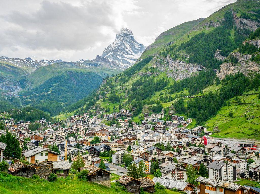 Potret Zermatt, Kota Bebas Polusi di Swiss