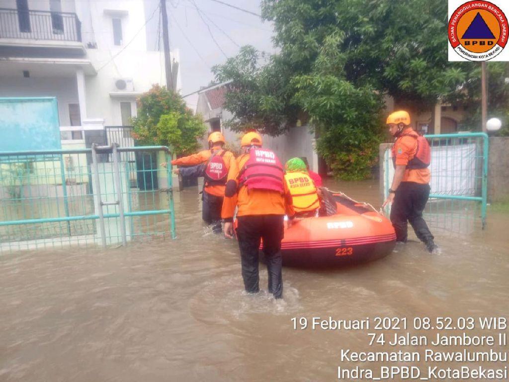 Update Banjir Bekasi Hari Ini: 37 Titik Surut, 22 Masih Tergenang