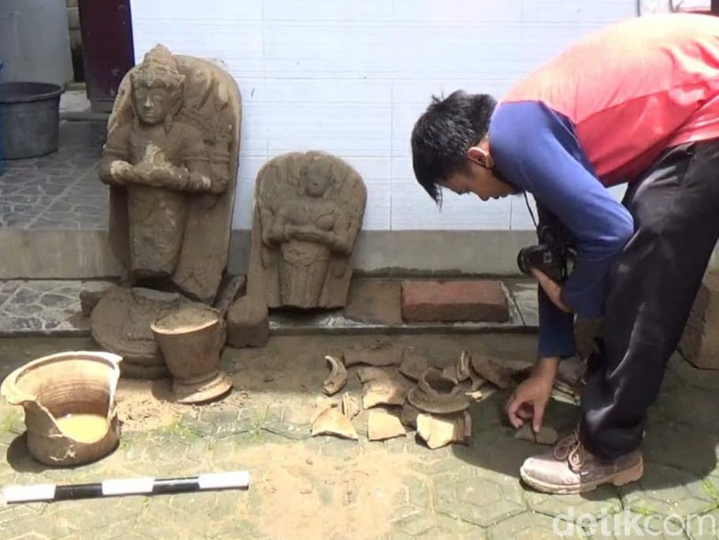 BPCB Jatim Identifikasi Temuan Dua Arca di Tulungagung