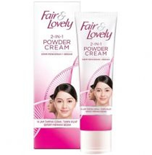 Fair & Lovely 2 In 1 Powder Cream (sumber : femaledaily)