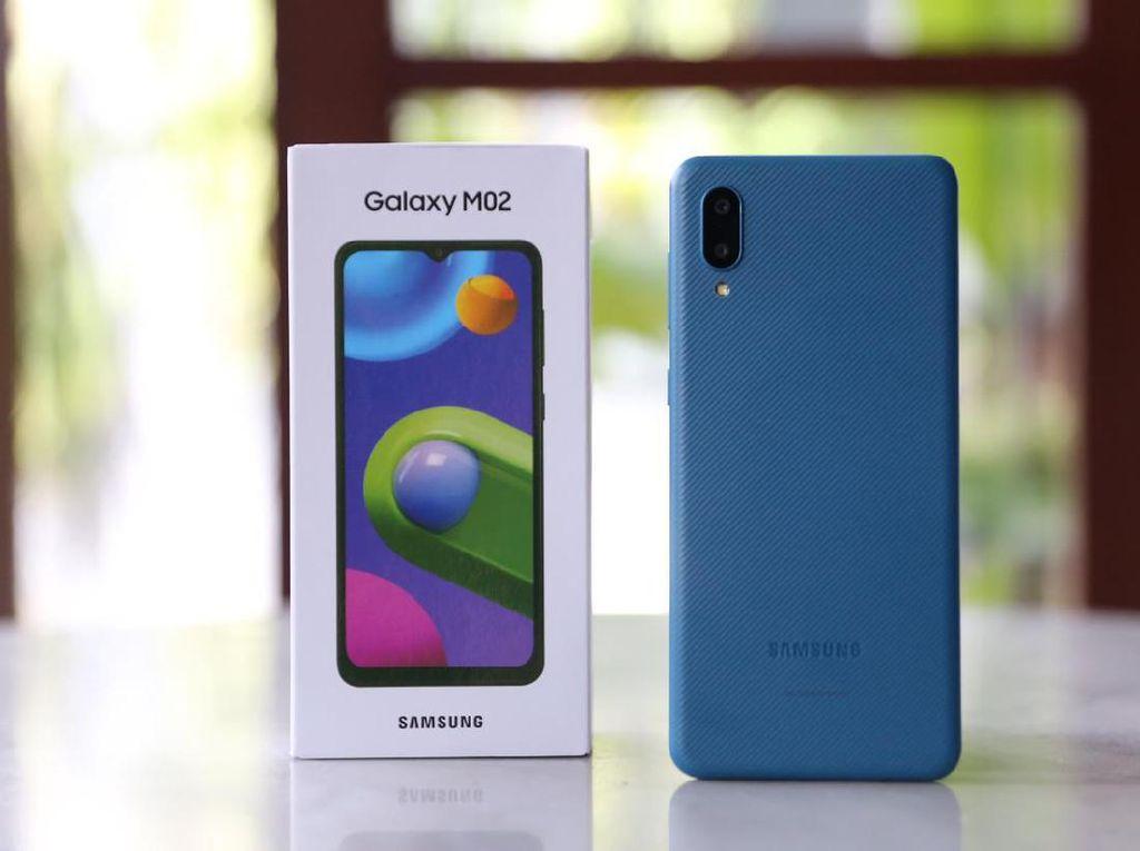 Samsung Galaxy M02, HP Rp 1,3 Juta Bawa Baterai 5.000 mAh