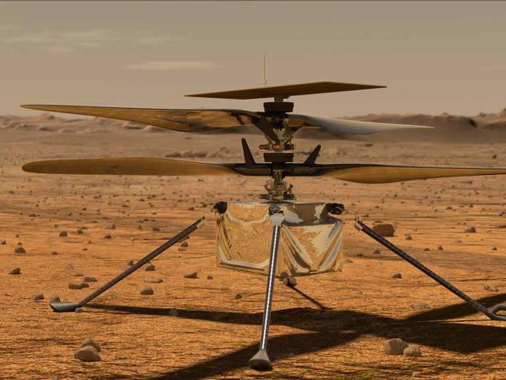 Helikopter NASA di Mars Tunda Terbang, Ada Masalah Teknis