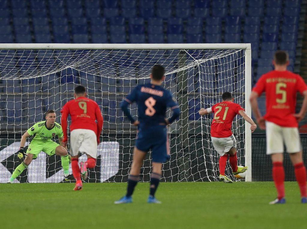 Arsenal Imbang Lawan Benfica, Arteta Kecewa