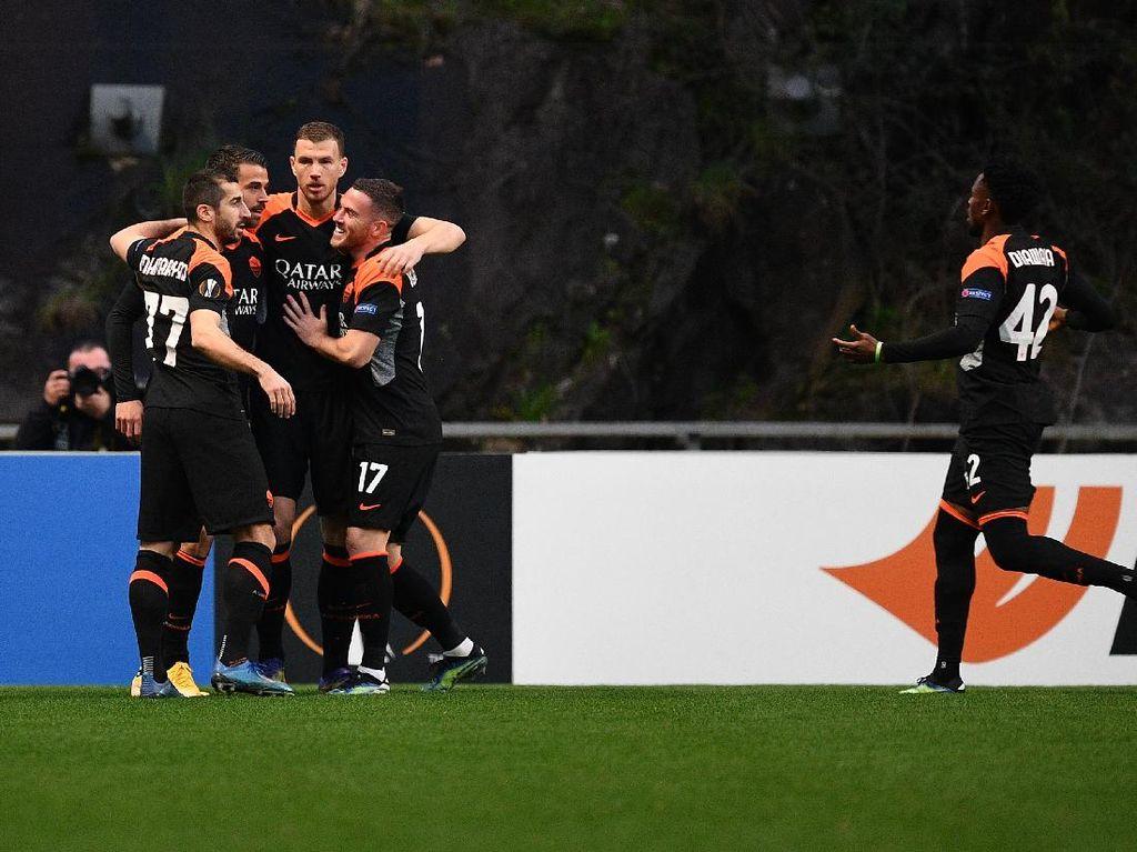 Hasil Liga Europa: AS Roma Tumbangkan Braga 2-0