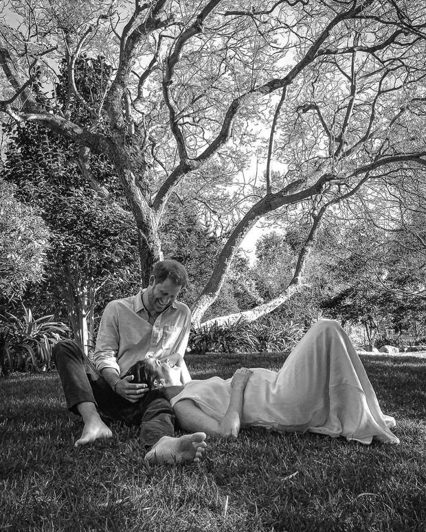 Pangeran Harry dan Meghan Markle melakukan pemotretan kehamilan (instagram.com/misanharriman)