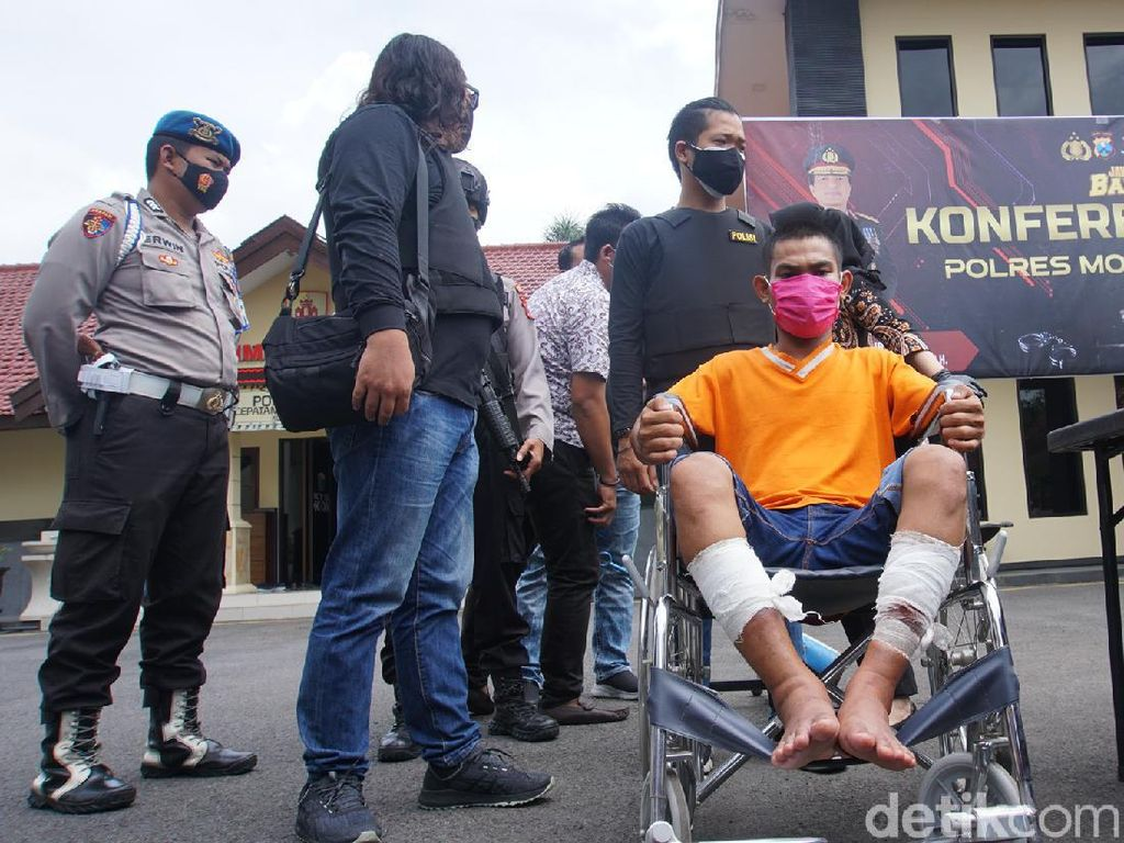 Pembunuh Terapis di Mojokerto Diringkus dan Dihadiahi Timah Panas