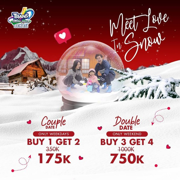Transmart Juanda Bekasi Snow World harga tiket promo Februari