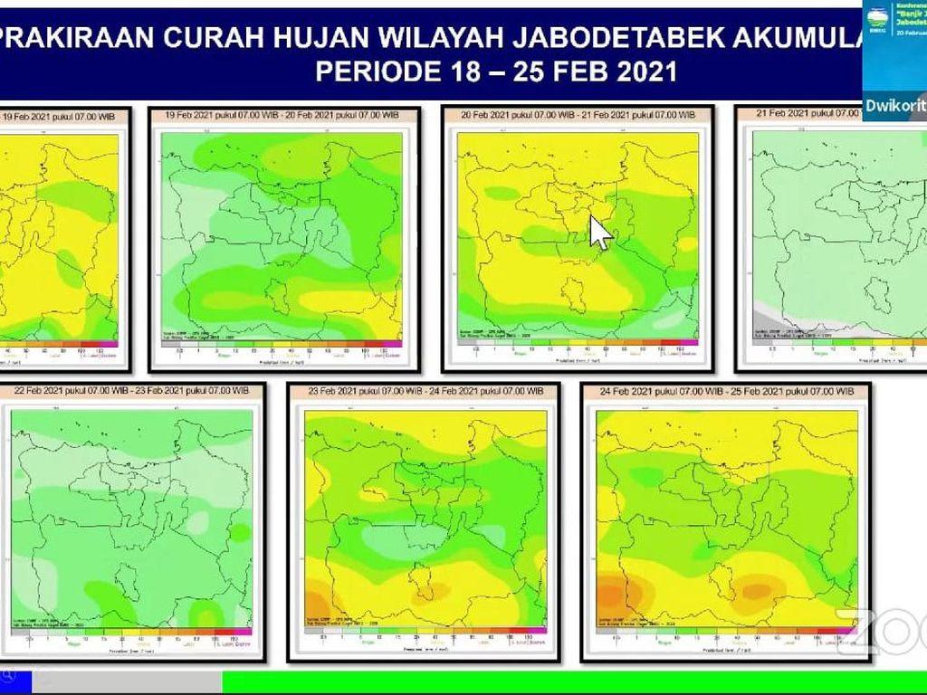 BMKG: Waspadai Potensi Hujan Lebat di Jabodetabek 23-24 Februari