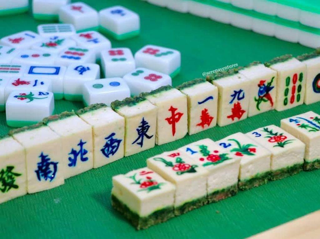 Unik! Cheesecake Ini Dibuat Mirip Permainan Mahjong