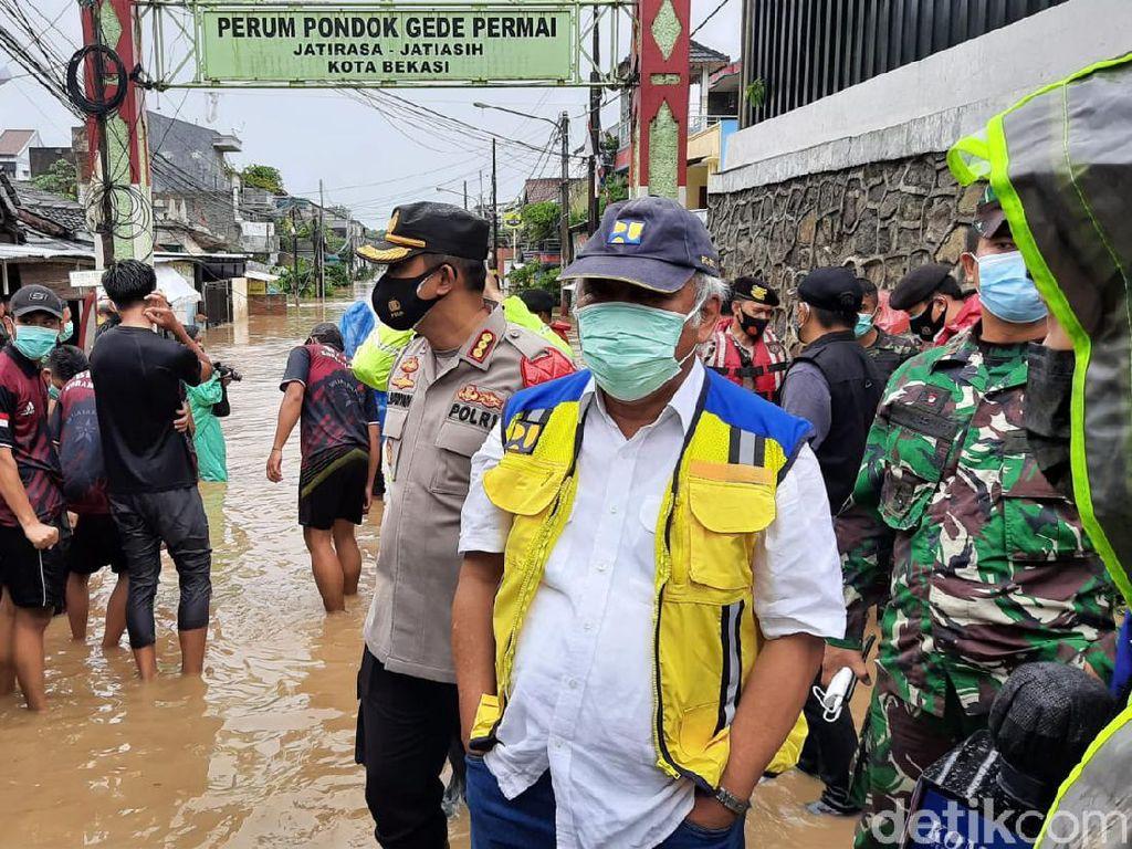PUPR Urai Rencana Putus Masalah Banjir Pondok Gede Permai