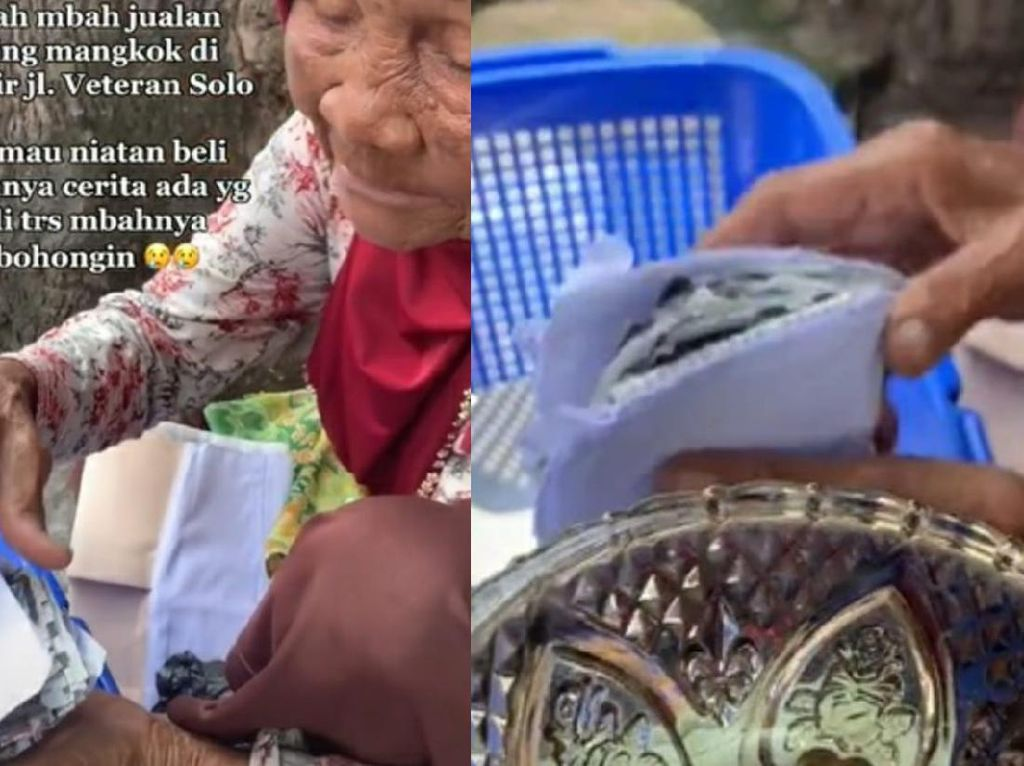 Miris! Nenek Penjual Piring Kena Tipu, Dibayar Pakai Amplop Isi Koran