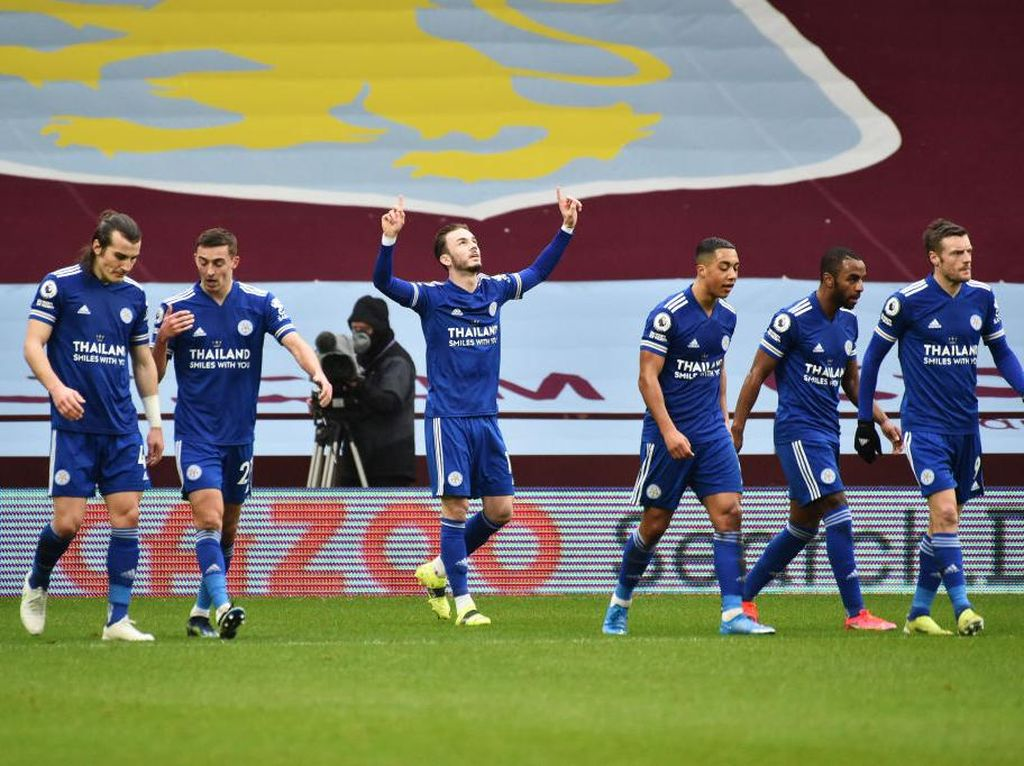 Villa Vs Leicester: Menang 2-1, The Foxes Salip MU