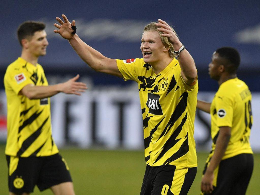 Schalke Vs Dortmund: Haaland 2 Gol, Die Borussen Menang 4-0