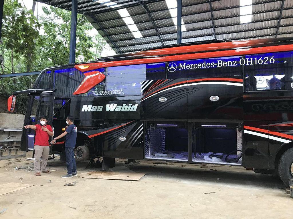 Ini Bus Pariwisata Mewah Mas Wahid yang Dibangun dari Armada Bekas