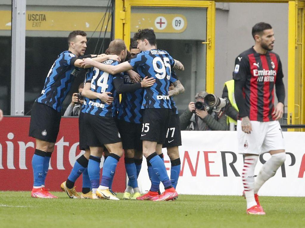 Milan Vs Inter: Martinez Bawa Nerazzurri Unggul di Babak Pertama