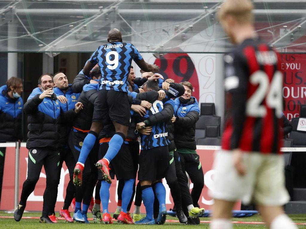 Milan Vs Inter: Nerazzurri Hajar Rossoneri 3-0