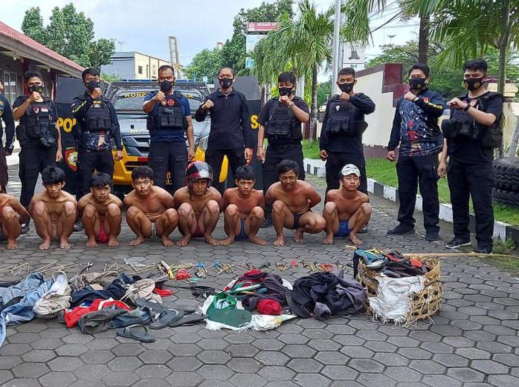 Polisi Bubarkan Tawuran di Makassar, 9 Pemuda Diamankan