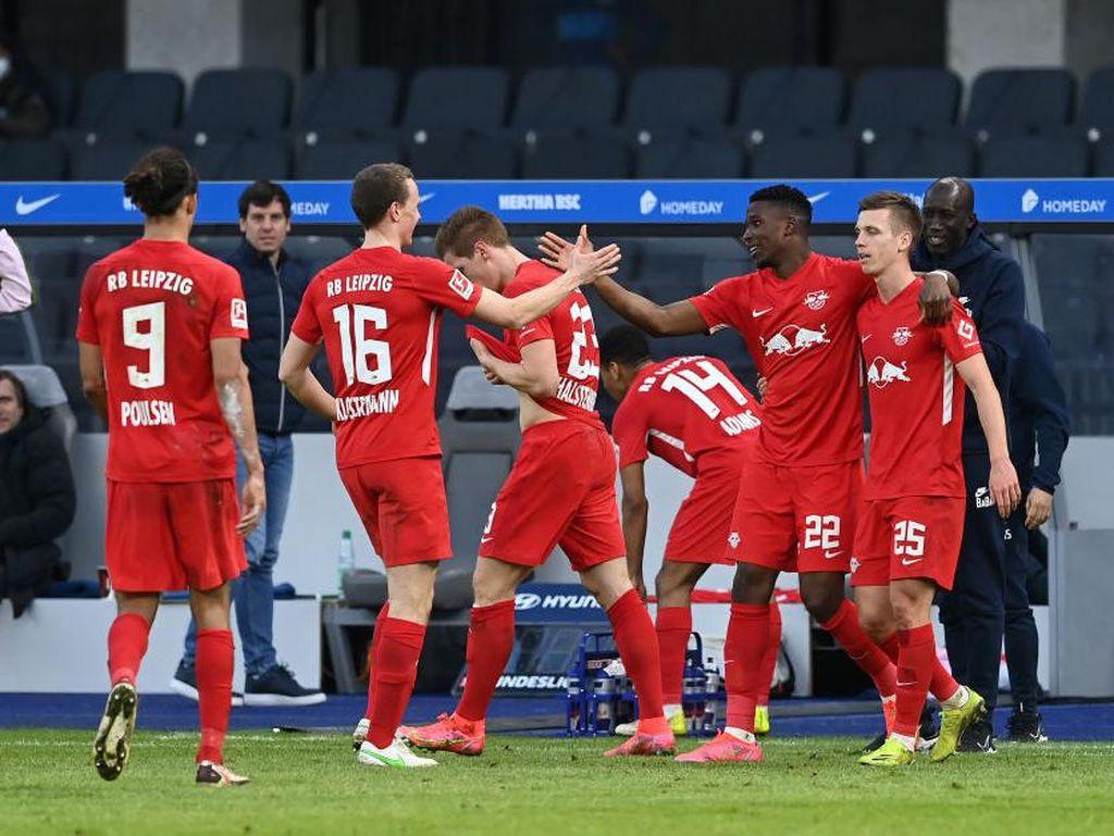 Hertha Vs Leipzig: Menang 3-0, Die Roten Bullen Buntuti Bayern Munich